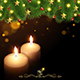 Christmas Background with Burning Candles - GraphicRiver Item for Sale