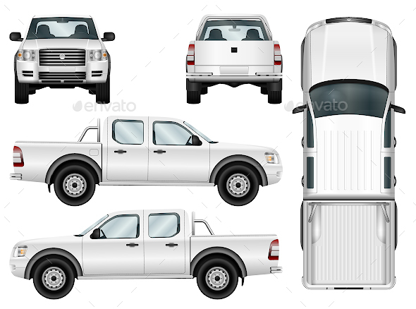 Pickup Truck Template