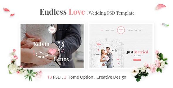 Endless Love – Wedding PSD Template