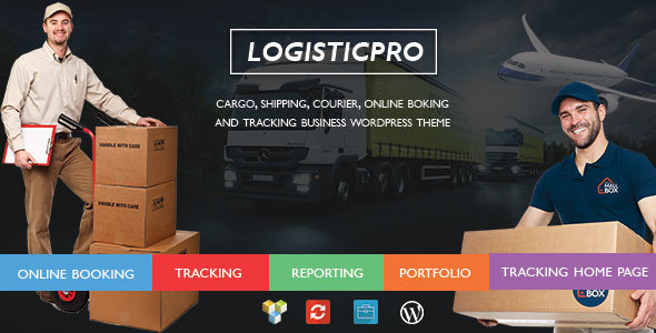 Logistic Pro – Transport – Cargo – Online Tracking – Booking – Portfolio WordPress Theme