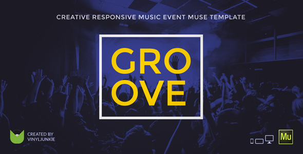 Groove – Music Event / Party / Festival Responsive Muse Template