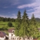 Aerial Mansion Near Forest - VideoHive Item for Sale