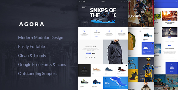 Agora – AJAX WooCommerce Theme