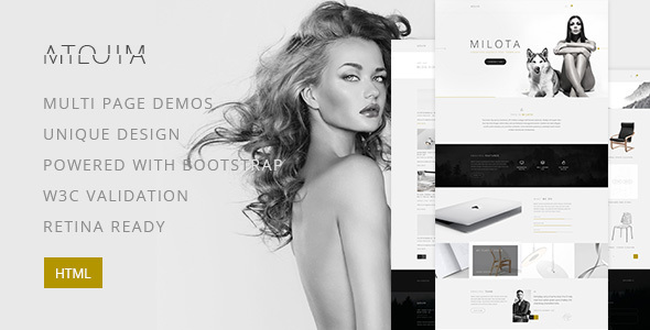 Milota — Modern Personal/Studio Portfolio and Blog HTML Template