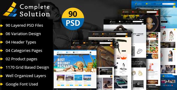 Complete Solution - Multipurpose E-Commerce PSD Template