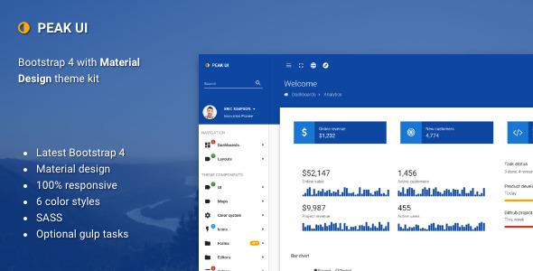 Peak UI –  Bootstrap 4 Admin Theme