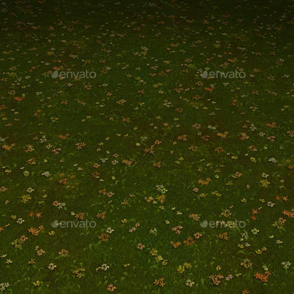 ground grass tile 6 - 3DOcean Item for Sale