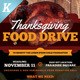 Thanksgiving Food Drive Flyer Templates - GraphicRiver Item for Sale