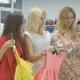 Three Beautiful Girls Shopping In The Showroom - VideoHive Item for Sale