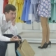 The Guy Wait His Girlfriend During The Shopping - VideoHive Item for Sale