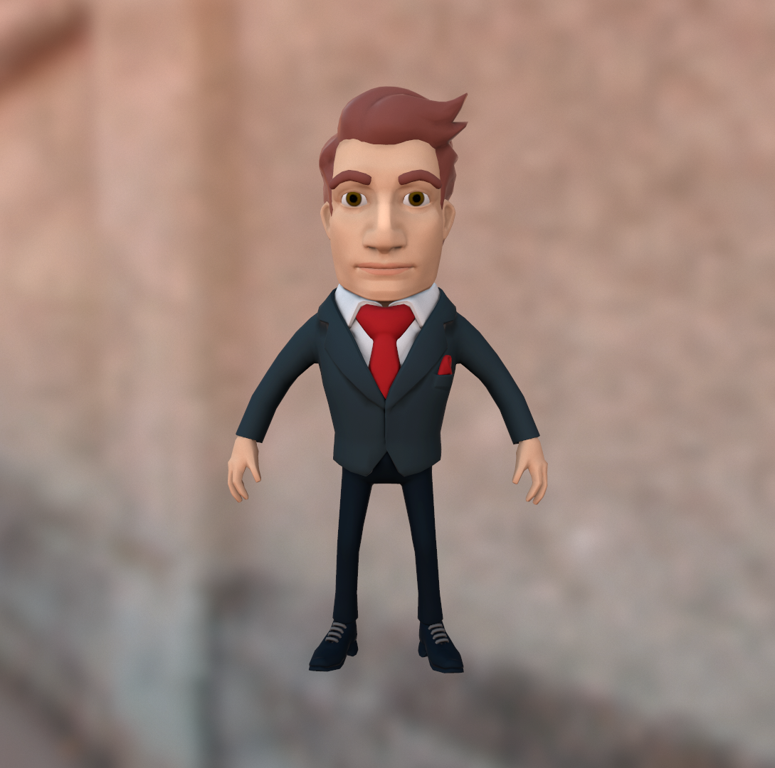 Cartoon Characters In Suits : Businessman cartoon character in suit by karinvanandel
