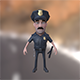 Policeman cartoon character with baton - 3DOcean Item for Sale