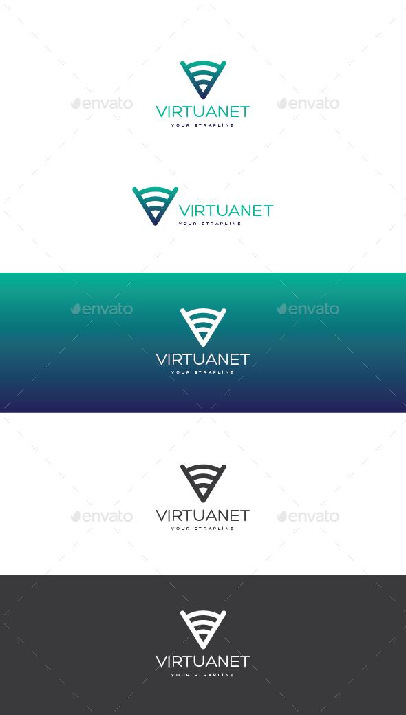 VirtuaNet Logo - Letters Logo Templates