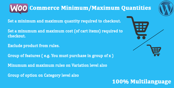 WooCommerce - Minimum/Maximum Quantities - CodeCanyon Item for Sale
