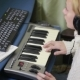 Woman Writes Music On The Computer. Digital Piano Midi Keyboard - VideoHive Item for Sale
