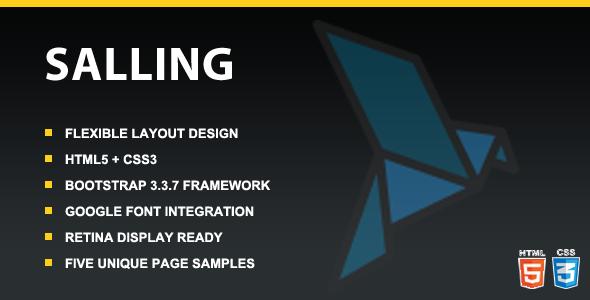 Salling – Responsive Multipurpose HTML5 Template