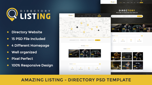 Listing - Directory Psd Template