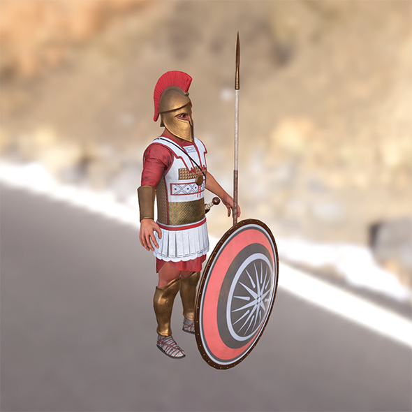 Greek hoplite - 3DOcean Item for Sale