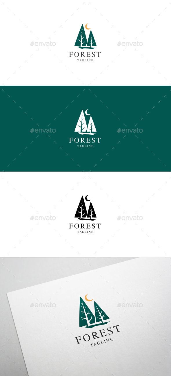 dark forest logo template by brandphant graphicriver