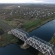 Nice View From The Height Of The Railway Bridge And The River, Flying Drones Over The Railway Bridge - VideoHive Item for Sale