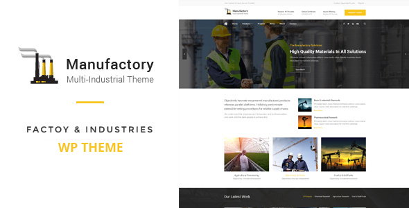 Manufactory: Multi-Industrial WordPress Theme