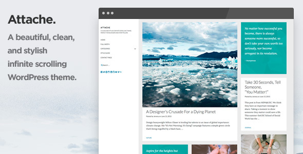 Attache Infinite Scrolling WordPress Theme