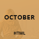 October - Responsive One Page HTML Template - ThemeForest Item for Sale
