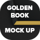 Golden Book Mock Up - GraphicRiver Item for Sale