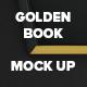 Golden Book Mock Up - GraphicRiver Item for Sale