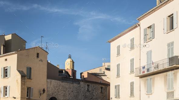 Saint-Tropez the clock tower - Stock Photo - Images