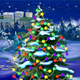 Christmas Tree Lights Flashing with Falling Snow - VideoHive Item for Sale