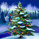 Christmas Tree in Magic Snowy Winter Night - VideoHive Item for Sale