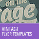Vintage Flyer Templates - GraphicRiver Item for Sale