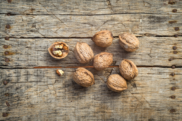 Fresh raw walnuts - Stock Photo - Images
