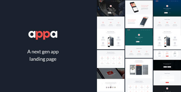 Appa - A Next Gen App Landing Page - Software Technology