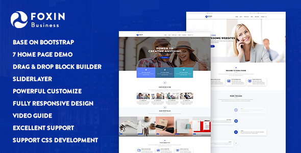 Foxin – Responsive Business Drupal 8 Theme