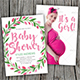 Baby Shower Invitation (Hand Painted Floral Wreath) - GraphicRiver Item for Sale