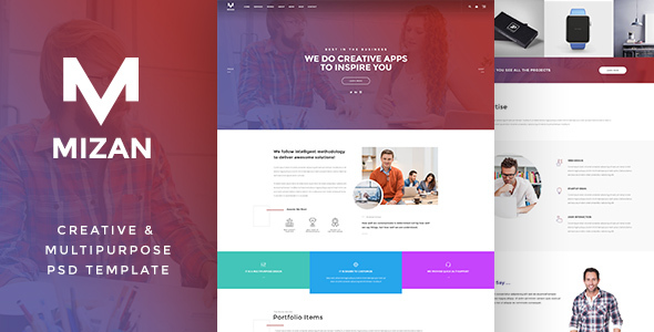 MIZAN  – Creative & Multipurpose PSD