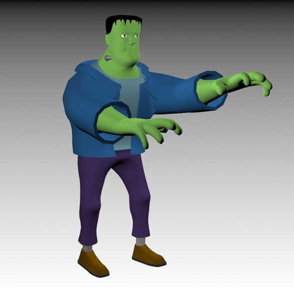 Funny Frankenstein Model - 3DOcean Item for Sale
