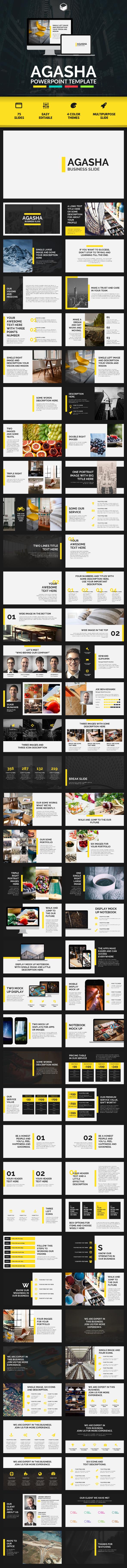 AGASHA - PowerPoint Template by descarteshouston | GraphicRiver