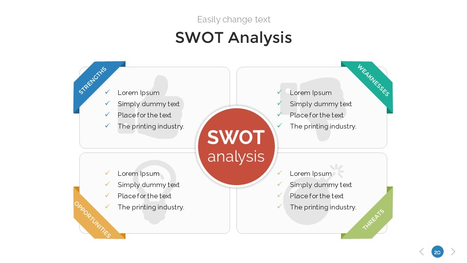 SWOT Analysis PowerPoint Template by SanaNik | GraphicRiver
