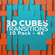 3D Cubes Transitions - 10 Pack - 4K - VideoHive Item for Sale