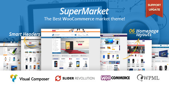 SuperMarket – Multipurpose WooCommerce WordPress Theme