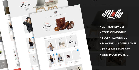 Molly – Prestashop Theme With 20+ Homepages