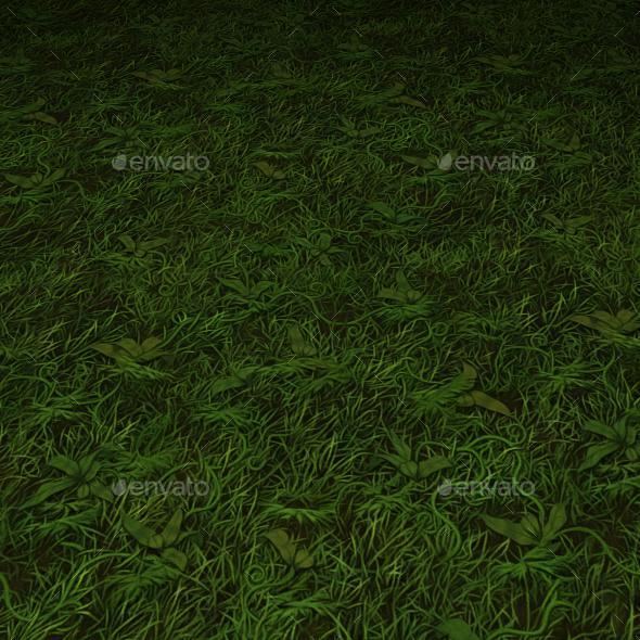 ground grass tile 17 - 3DOcean Item for Sale