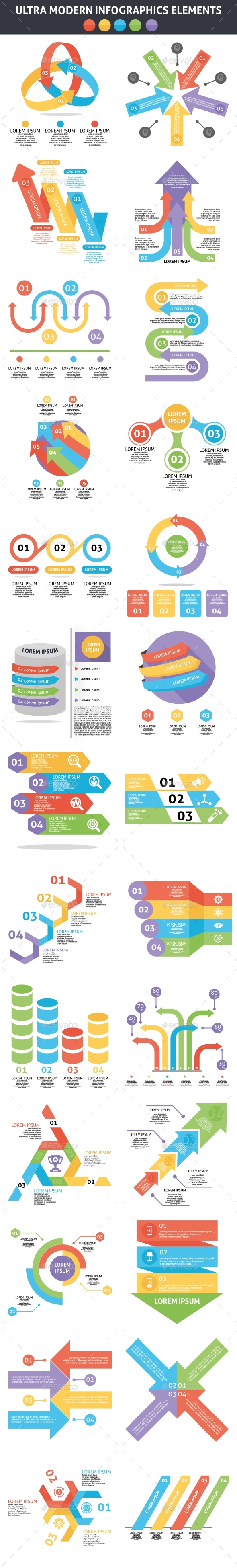 Ultra Modern Infographics Elements - Infographics