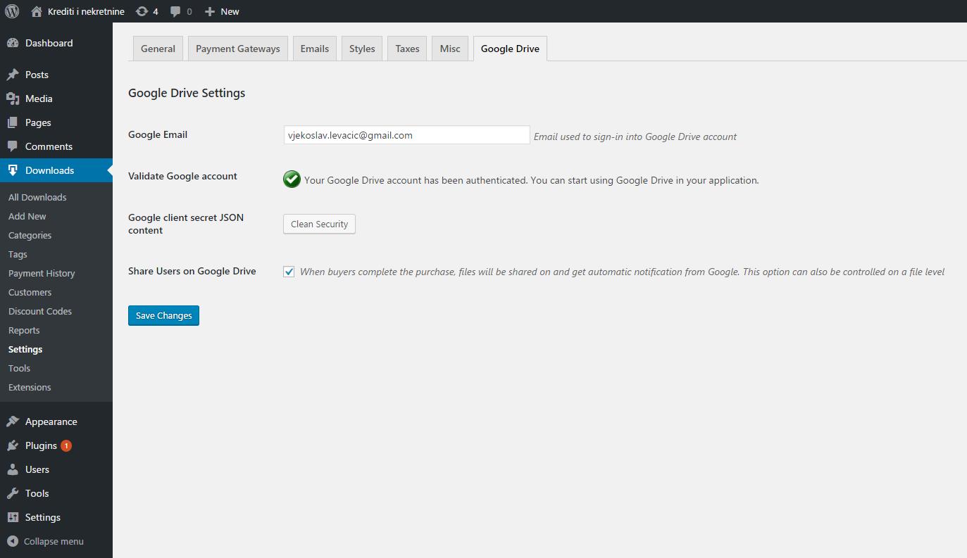 EDD Google Drive by vlevacic | CodeCanyon
