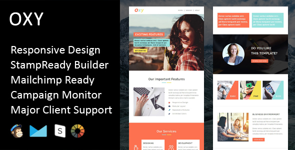 Image of Oxy - Multipurpose Responsive Email Template + Stampready Builder