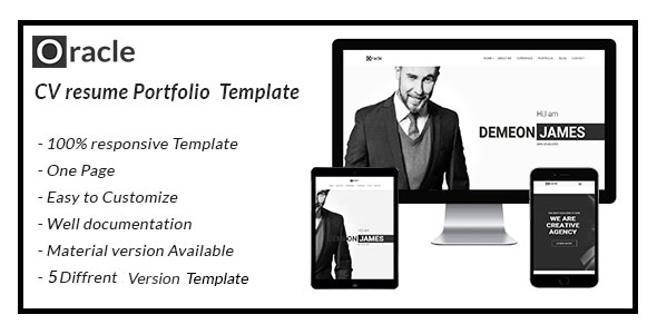 Extraordinary oracle CV Resume Personal  Template