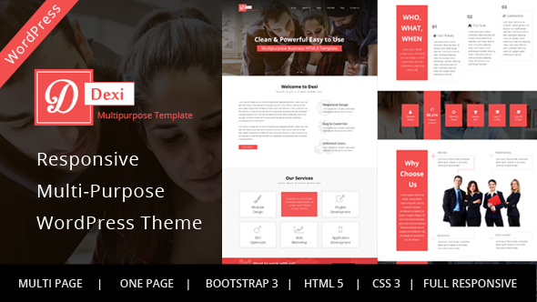 Dexi – Business Portfolio WordPress Theme